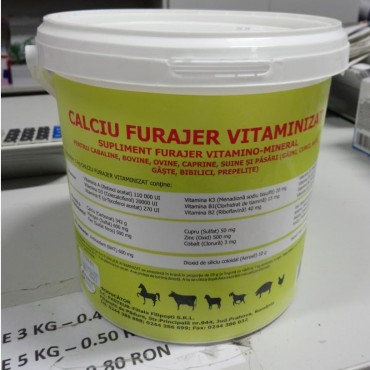 Calciu Furajer Vitaminizat - 6kg