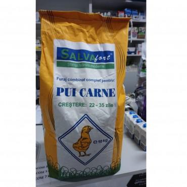 Salvafort Furaj combinat complet PUI CARNE Crestere 22-35 zile - 10kg