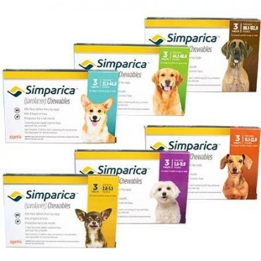 SIMPARICA 10-20 KG 3 TABLETE