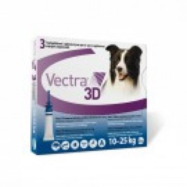 VECTRA 3D DOG 10-25KG PIP